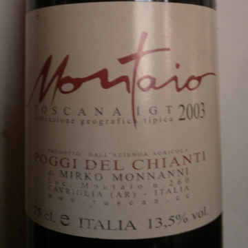 Montaio - toscana igt - 2003